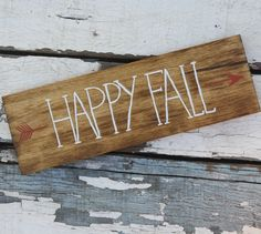 Happy Fall Handpainted Wooden Sign by KicksCrafts on etsy $26.00