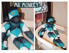 Handmade sock monkey!