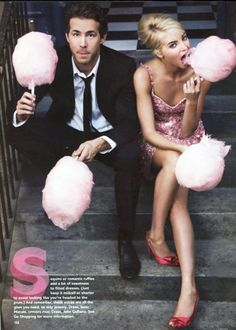 cotton candy as props for engagement photo