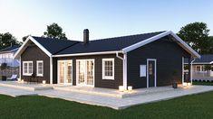 Villa Kobbskär | A-hus Black House Exterior, Home Exterior Makeover, A Frame House, Shed Homes, Exterior Paint Colors, House Roof, Home Fashion, Home Renovation, House Colors