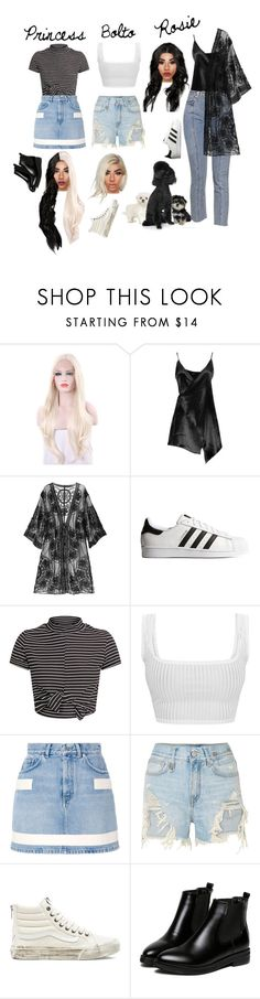 """""""My dogs as humans"""" by ajenk200 ❤ liked on Polyvore featuring Boohoo, adidas Originals, Givenchy, R13, Vans and WithChic"""