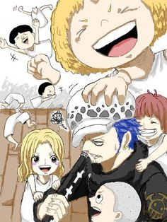 Law and the adorable children from Punk Hazard