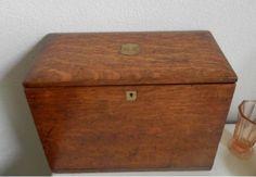unusual antique writing box, outside