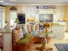 The color experts at HGTV.com share 30 colorful kitchens, from blue to orange and every shade in between, where color steals the show.