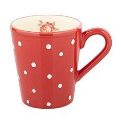 Red 'Dotty Rose' mug - Mugs - Dinnerware - Home & furniture -