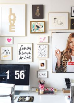 Gallery wall art #HomeOwnerBuff