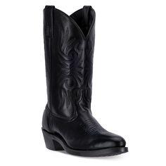 Laredo Paris Men's Trucker Cowboy Boots, Size: medium (10), Black