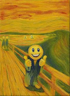 the scream w/ smiley face