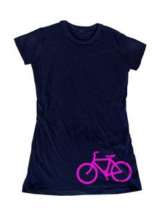 Bike Bicycle Cycling Girls' Navy Blue Organic by MajidaDesigns, $22.00