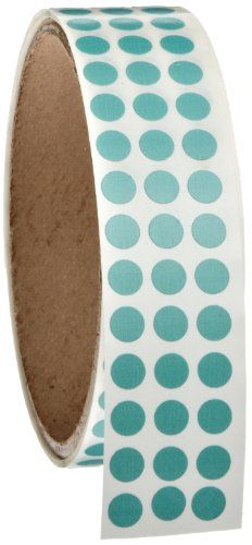 """Roll Products 119-0001 Adhesive Dot Label, 1/4"""" Diameter, For Inventory And Marking, Aqua (Roll Of 1000), 2015 Amazon Top Rated Adhesive Dots #BISS"""