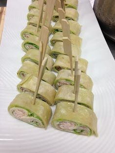 Pinwheel of Roasted Turkey, Basil Aioli, Cucumber, Butter Lettuce & Swiss #crushediceevents