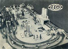 """""""Von 1955-57 TLG hat der 1:87 LEGO Stadt-plan mit Märklin Züge gezeigt im Kataloge und Ideebücher."""""""
