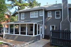 The Houston House: Gauntlet Gray Siding Exterior Color Schemes, Exterior Paint Colors For House, Grey Exterior, House Color Schemes, Paint Colors For Home, Siding Colors, Exterior Design, Exterior Paint Sherwin Williams, Craftsman Home Decor