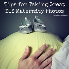 Take your own maternity photos. | 31 DIY Projects That Will Make Pregnancy So Much Easier