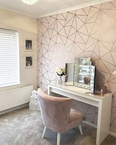 Home Dressing Room Changing room Bedroom Lowboy Wardrobe Interior design Furniture Girls Dressing Room, Dressing Room Decor, Dressing Room Design, Dressing Area, Dressing Rooms, Dressing Table And Chair, Spare Bedroom Dressing Room Ideas, Cute Room Decor, Teen Room Decor