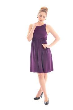 Bridesmaid dress- 'Rainbow' purple bridesmaid dress/ maternity dress/ maternity clothing/ women dress. $79.00, via Etsy.