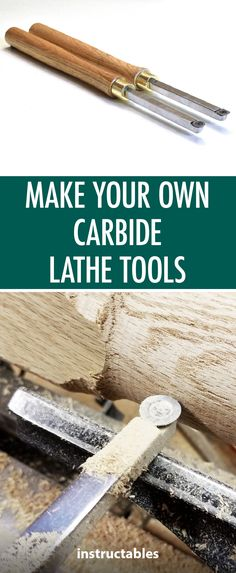 Make Your Own Carbide Lathe Tools  #woodworking #workshop