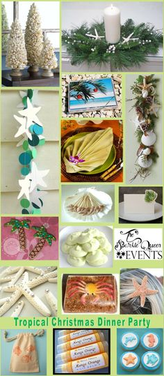 The Sparkle Queen: Tropical Christmas Dinner Party ideas & inspiration board