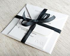 Entwined Letterpress Wedding Invitation Samples