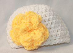 Newborn Flower Hat  Infant Flower Hat  Baby by MyStitchInTime, $10.00