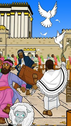 """""""Yeshua (Jesus) entered the temple and drove out all who sold and bought in the temple, and He overturned the tables of the money-changers.."""" (Mat 21:12)"""