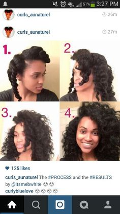 Chunky twist out on natural or relaxed hair