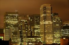 the lights of The City (San Francisco)