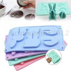 3D Easter Silicone Bunny Rabbit Egg Chocolate Cake Topper Fondant Baking Mould | eBay