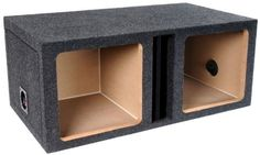 """Brand New Atrend E12dvk Dual Divided 12"""" Vented/ported Square Solo Baric L7 or L5 Car Subwoofer Enclosure with Heavy Duty 3/4"""" High Density Mdf and by ATREND. $79.95"""