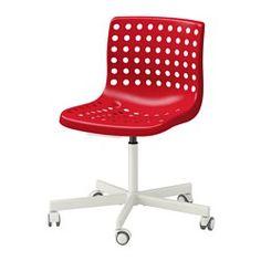 SKÅLBERG / SPORREN Swivel chair, red, white - - - IKEA