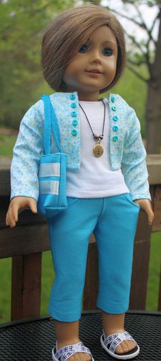 American Girl Doll ClothesJacket and Capri by buttonandbowboutique, $24.00