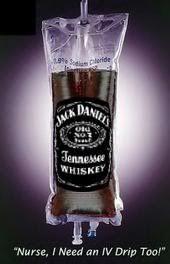 JACK DANIEL'S SERUM NURSE, I NEED AN IV DRIP TOO! ART