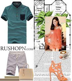 """Green Cotton Man T-Shirt"" by profireli on Polyvore"