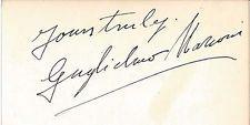 MARCONI GUGLIELMO MARCONI autographed signature GOLDENAGE ESSENTIALS