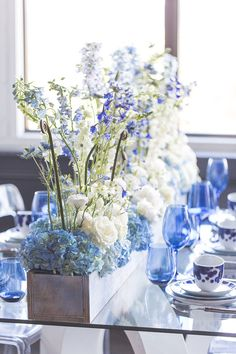 A stunning, monochromatic dreamy ice blue wedding inspiration shoot inspired by David Bridal's Fall 2017 collection, designed by Aisle Society and photographed by Cassi Claire # blue Weddings Dreamy Ice Blue Wedding Inspiration Periwinkle Wedding, Wedding Colors, Wedding Flowers, Wedding Tags, Wedding Blog, Dream Wedding, Wedding Ideas, Bridal Shower Decorations, Wedding Centerpieces