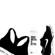 pinterest: @lilyosm | workout fitness fit fitspo essentials boxed water calvin klein nike black and white