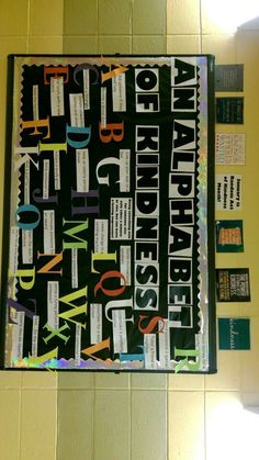 Random acts of kindness.. January RA bulletin board