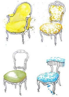 french chairs by georgina luck