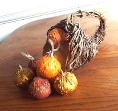 Gourds for Fall Autumn Decor 10 Small Painted by midnightcoiler
