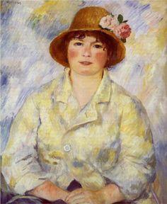 Aline Charigot (future Madame Renoir) by Pierre-Auguste Renoir
