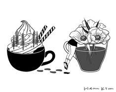 Hello, Spring #hennkim #henn #art #illustration #drawing #sketch #black #white #pen #inspire #creative #pintable