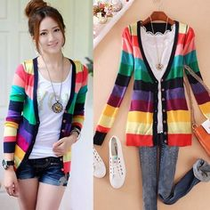 Womens Nice Long Sleeve Knitted Sweater Button Down Top Cardigan V-neck Coat ebay