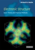 Electronic structure : basic theory and practical methods / Richard M. Martin