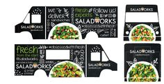 Design for the future food truck of the Saladworks franchise. Food Truck, A Food, Catering, Trucks, Future, Ideas, Design, Future Tense, Gastronomia