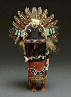 Broadface Whipper Kachina Doll by Sandra Suhu (Hopi)
