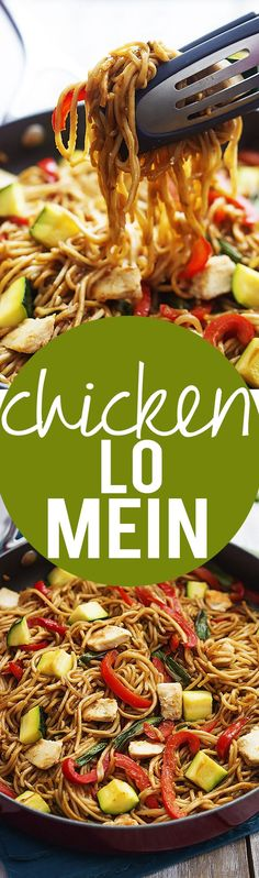 Easy, 30 minute, way better than takeout Chicken Lo Mein! | Creme de la Crumb