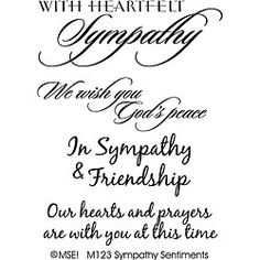 My Sentiments Exactly Sympathy Clear Stamp Set