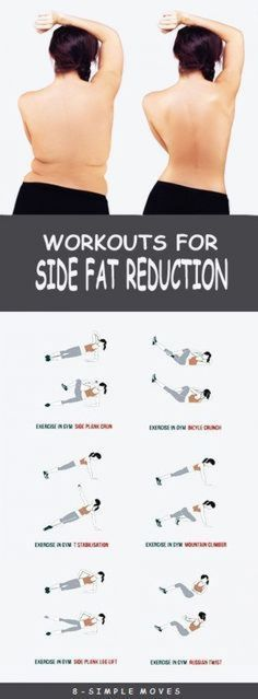 8 Effective Exercises To get rid of Side Fat. by trisha 8 Effective Exercises To get rid of Side Fat. by trisha Fitness Workouts, Sport Fitness, Easy Workouts, Fitness Diet, At Home Workouts, Fitness Motivation, Health Fitness, Workout Routines, Workout Plans