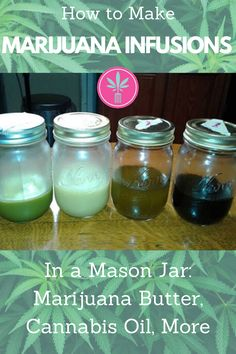 Make marijuana butter, oil, and other infusions using the Mason Jar method and your stovetop. Absolutely no special gadgets required! Weed Recipes, Marijuana Recipes, Cannabis Edibles, Cannabis Oil, Thc Oil, Cannabis Growing, Vegan Recipes, Marijuana Butter, Weed Butter