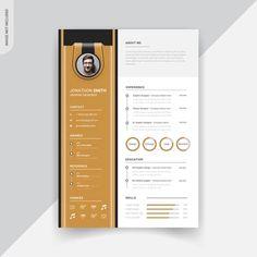 Rstech | Freepik Resume Design Template, Cv Template, Templates, Resume Cv, Creative Resume, My Images, Graphic Design, Modern, Resume